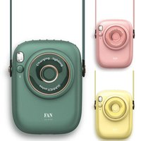 Electric Fans D0JE Portable Hanging Neck Fan Rechargeable Camera-shaped For Outdoor Sports Office