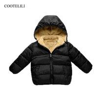 Velvet Overalls For Children Kids Winter Jacket Boys Baby Girl Clothes Warm Child Parkas Outerwear 80-110cm Coat