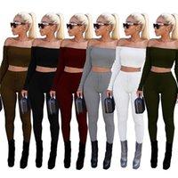 Hot Woman Cousssuit Комбинезоны 6 Цветов Женская Одежда 2 Шт. Набор Joggers Gymshark Женская Одежда Женщины Два куска Наряды Выседания Femme