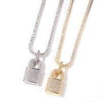 CZ CERRADO Colgante collar 4 mm Cadena de tenis Bling Cubic Zircon Charm Choker para hombres Mujeres Hip Hop Jewelry 1153 B3