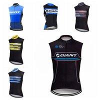 Giant Team Cycling Sans Manches Jersey Gilet respirant rapide Polyester secs rapide Sportswear Vêtements d'été Mens H62801
