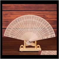 Arts And Arts, Crafts Gifts Home & Garden Drop Delivery 2021 Custom Logo! Chinese Wood Scented Bridal Wooden Openwork Craft Fan Hand Held Fol