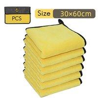 PCS lavagem de carro toalha de microfibra auto limpeza de secagem de pano de hemming super absorvente 11.8x23.6.inch