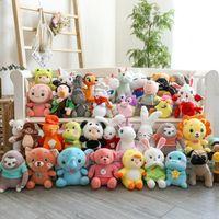 Súper muchos muñecas de peluche animal 25 cm 37 estilo ocho pulgadas peluches juguete agarre muñeca regalo de boda lanzar anual fiesta cerdo títere juguetes, regalos para niños