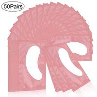 20 50 Pairs Lash Extensions Eye Pads Grafting Eyelashes Eyelash Hydrogel Patches Extension Supplies Sticker Tools False