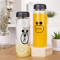 Expresión de dibujos animados Copa plástica Sally pollo oso marrón taza de agua mi botella de limonada taza