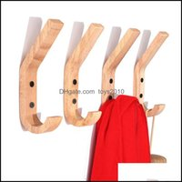 Rails Housekee Organization & Gardennatural Wooden Coat Hook Study Wall Mounted Clothes Scarf Hat Bag Storage Hanger Hooks For Home Living R
