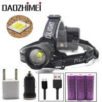 Lumen XHP70.2 Светодиодный фар 2 режима высокой мощности фар USB Zoom Head Light Lanterner 18650 Мощные охотничьи фары
