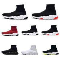 2021 Top occasionnels Chaussettes Chaussures Hommes Femmes Sneaker Fashion Plateforme Triple Noir Blanc Royal Beige Rouge Paris Mens Femme Femme Femme Femme Tableau de la chaussure 36-46