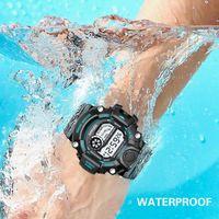 Montre-montre Montre mâle Luxe Chronomètre Réveil Rappel horaire Rappel horaire Lumineux Date Date d'affichage 12/24 heure convogio Masculino de Luxo F5