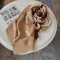 패션 디자이너 스카프 여성 편지 V 인쇄 꽃 럭셔리 부드러운 우아한 woolscarfs 목도리 목 랩 sapeee