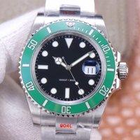 Noof fábrica 41 40mm Moda Esportes Sapphire Relógios Mecânicos Automáticos ETA 2836 3135 116610 116620 Ln Quadro Cerâmica Azul Mergulho Luminoso 904L Mens Watch