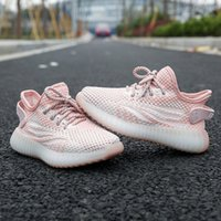 Spring Summer autumn Infant Reflective Linen Sneakers Kids Running Shoes Static Tail Light Small Boys Girls Toddlers Green Glow Sneakes factory037