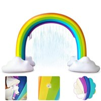 Pool & Accessories Inflatable Rainbow Arch Outdoor Summer Sprinkler Toy Parents Children Toddlers Water Spray Toys For Party Birthday Festiv