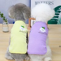 Pet Dog Apparel spring and summer pets clothing clothes embroidered puppy vest 3 colors DHF10477