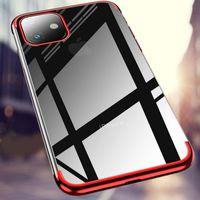 TPU Soft Silicone Manga Ultra-fina Casos transparentes transparentes para iPhone 12 11 Pro Max XR X XS 6 7 8 PLUS 6S SAMSUNG S20 S21 S30 A21 A31 A41 A51Case