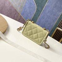 Top de alta calidad de la marca Mini Bolso de la cintura Classic Diamond Laticed Cadena Diseño de la cadena de un solo hombro CRUZ CUERZA BOLSO DE LUJO
