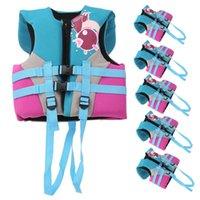 Pool & Accessories Children Life Jacket Buoyancy Adjustable Safety Vest Flotation Swimming Aid Neoprene+EPE+SBR