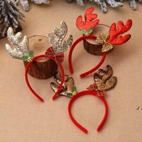 Świąteczne opaski Santa Drzewo Elk Antlers Głowy Ozdoby Ozdoby świąteczne Dekoracje Party Cosplay Headwear DWD10966