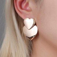 Dangle & Chandelier LATS Heart-shaped Earrings For Women Statement Vintage Geometric Gold Drop 2021 Female Wedding Fashion Jewelry
