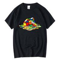 Xinyi الرجال تي شيرت جودة عالية 100٪ للرجال قصيرة الأكمام ماجيك مربع تصميم الطباعة بلايز القمصان الملابس