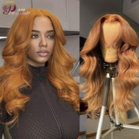 Lace Wigs Ginger Brown Body Wave Wig Pre Plucked Honey Blonde Front Transparent For Women Brazilian Human Hair Orange Remy