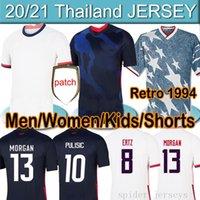 4 Yıldız US 2020 2021 Pulisic Reyna Bir Futbol Erkek Kadın Çocuk Kiti Formalar Dest McKennie Lloyd Morgan America Futbol Amerika Birleşik Devletleri Gömlek