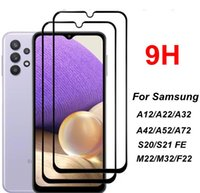 Full Cover Screen Protectors Film For Samsung Galaxy A12 A22 A32 4G 5G A52 A72 S20 S21 FE M22 M32 F22 Protective Tempered Glass