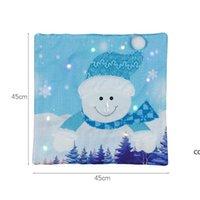 크리스마스 장식 LED 빛나는 산타 클로스 눈사람 베개 케이스 라이트 베개 케이스 커버 홈 장식 소파 자동차 무료 DHD8832