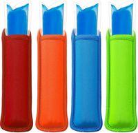 Antifreezing Popsicle Bags Freezer Popsicle Holders Reusable Neoprene Insulation Ice Pop Sleeves Bag for Kids Summer Kitchen Tools EWA5419