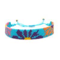 Go2boho Flower Bracelet For Women Gift Jewelry 2021 Bohemian Colorful Bead Bracciale Friendship Beach Jewellery Miyuki Bracelets