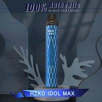 정통 Hzko Idol 최대 일회용 vape 펜 2000 퍼프 스트레이터 키트 1100mAh 6.5ml