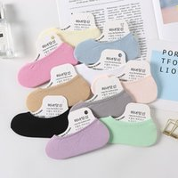 Socks Summer super thin candy color women's velvet invisible silk silicone women's magic