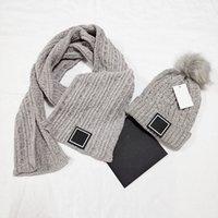 2021 Stile 100% Cappello in cotone Cappello Sciarpa Set Moda Cappelli a maglia Cappelli caldi per autunno inverno colore 5 mens womens beanie