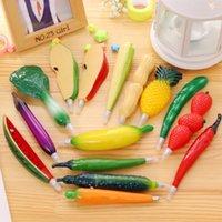 Vegetable Fruit Ballpoint Pens Creative Gel Pen Cartoon Cute Shape Writing Supplies16 Style