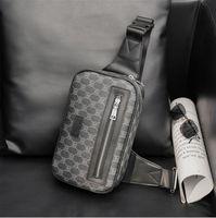 공장 도매 남자 가방 야외 스포츠 및 레저 인쇄 메신저 핸드백 거리 트렌드 격자 무늬 어깨 가방 간단한 야생 줄무늬 지갑