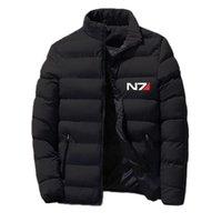 Men's Hoodies & Sweatshirts Mass Effect N7 2021 Autumn And Winter Print Custom Velvet Casual Zipper Slim-fit Jackets Warm Cotton Clothes