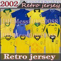 Classic 1998 Brasil Retro Soccer Jerseys 2002 Camicie Carlos Romario Ronaldinho 2004 Camisa de Futebol 1994 Brazils 2006 1982 Rivaldo Adriano