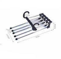 Mode 5 in 1 Multifunktionshose Lagergestell Einstellbare Hosen Krawatte Lagerregal Closet Organizer Edelstahl Kleiderbügel