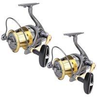 Carrete de pesca 6 + 1BB Todos Metal Spinning de fundición larga de metal 4.6: 1 Accesorio de alta velocidad Accesorio de baquetas de bañador