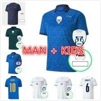 Adam Çocuk Kiti 2021 Oyuncu Sürüm İtalya Futbol Forması Home Barella Sensi Insigne Italia Away Beyaz Üçüncü Chiellini Belotti Maillot de Foot