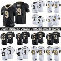 9 DREW BREES 13 MICHAEL THOMAS 7 TAYSOM HILL 41 ALVIN KAMARA 23 Marshon Lattimore мужская сшитая NFL New Orleans Saints Nike Limited футбол Джерси