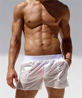 Alsoto Board Shorts Mannen Volledig Transparente Sexy Casual Sólido Beach Shorts Beach Surf Zwemmen Shorts Homem Maillot de Bain Strand 210428