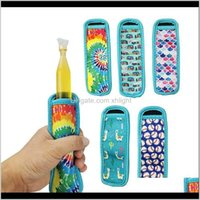 Kitchen Kitchen, Dining Bar Home & Garden Drop Delivery 2021 Ice Tools Neoprene Popsicle Sleeves Insulated Zing Icypole Holders For Childrens