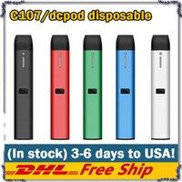 뜨거운 충전식 일회용 vape 펜 키트 DCPOD C107 카트리지 빈 포드 0.5ml 두꺼운 오일 기화기 VS 케이크 델타 8 D8 장치에 대 한 0.5ml 1.0ml