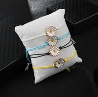 4pcs lot Sunflower Design Bracelets Friendship Sister Gifts Bracelet Team Work Souvenir Handmade Crafts Girls Fashion Floral Jewelry