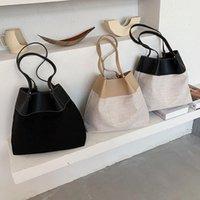 숄더백 짚 여성의 바느질 짠 가방 패션 대용량 쇼핑 레저 비치
