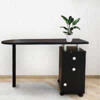 Waco Manicure Table Salon Mesas de unhas Mobiliário comercial, Simple Technician Desk Trabalho Art Station w / Gaveta para Home Office Beauty, Preto