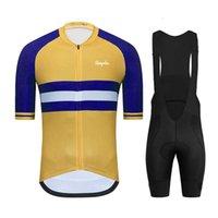2021New Kurzarm Jerse Man Pro Team Radfahren Kleidung SetsQuick-Trocknung eng anliegend Rapha Sommer Mountainbike Uniform