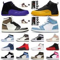 2020 Ayakkabı Air Jordan Retro 12 12s XII Jumpman Stock x Basketbol ayakkabıları DARK CONCOR FLU GAME University Gold 23 Gym 2018 BULLS Yeni Erkek Spor Ayakkabısı SIZE EUR 47